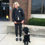 Gretchen Preston with Floyd the Service Dog