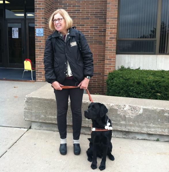 Gretchen Preston with Floyd the Service Dog