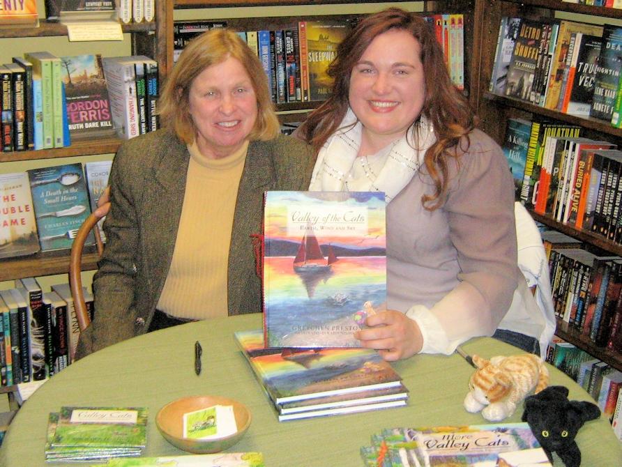 Gretchen Preston with illustrator Karin Neumann