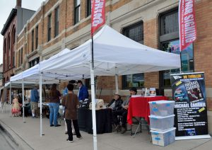 Annual Engineer's Day Bookfest features local authors outside Island Books & Crafts!